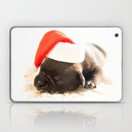 Laptop & iPad Skin featuring Christmas Puppy  by UtArt