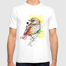Rufous Whistler Mens Fitted Tee White SMALL