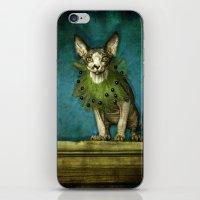 Green collar iPhone & iPod Skin