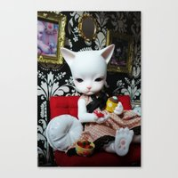 WEEKEND AT HOME (Cat Dol… Canvas Print