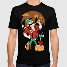 Green Thumberjack Black Mens Fitted Tee SMALL