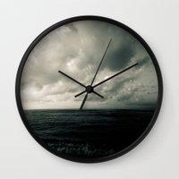 Summer Ver.greenblack Wall Clock