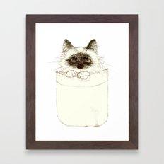 Puss in Pocket (B) Framed Art Print