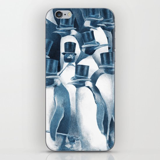 A Gathering of Gentlemen (square format) iPhone & iPod Skin