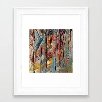 Color Texture History 1 Framed Art Print