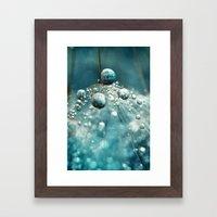 Midnight Blue Dandy Rain Framed Art Print