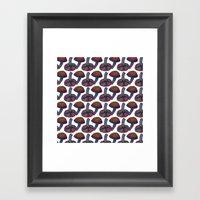 Mushroom Pattern Framed Art Print