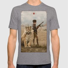 1920 - kittens Mens Fitted Tee Tri-Grey SMALL