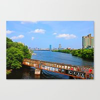 BU Bridge  Canvas Print