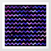 Chevron Galaxy Art Print