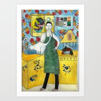 In The Kitchen Art Print