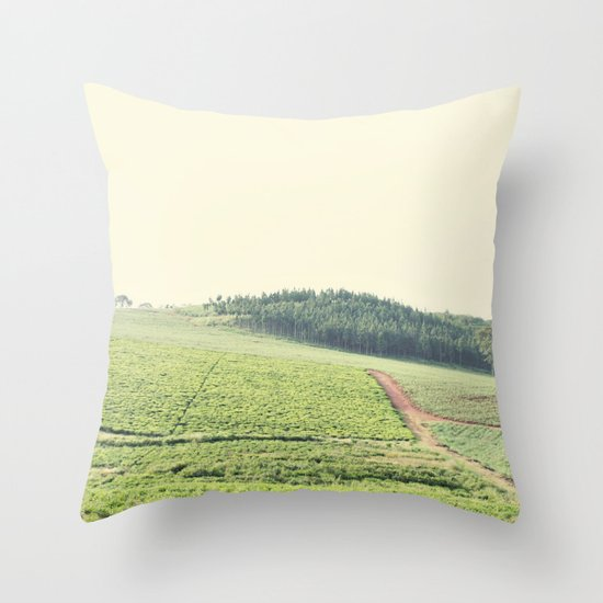 on the hill::uganda Throw Pillow