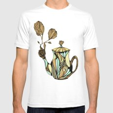 Flower Pot White Mens Fitted Tee SMALL