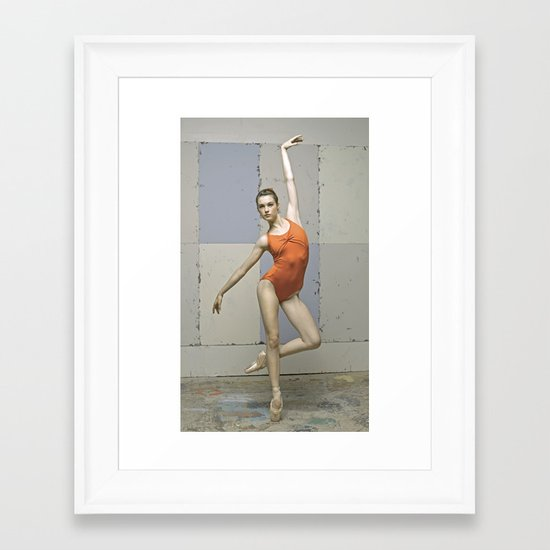 Contemporary ballet dancer Framed Art Print