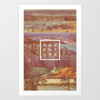 adventure Art Prints featuring Adventure by Zeke Tucker