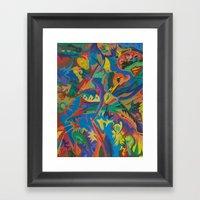 Crazy Dreams Of Colour  Framed Art Print