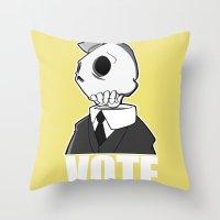 Politico Throw Pillow