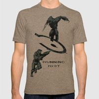 Running Riot - Halo Mens Fitted Tee Tri-Coffee SMALL