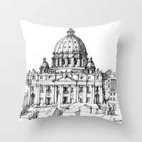 Basilica di S. Pietro a Roma Throw Pillow