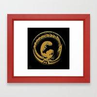 Dragon Circle Framed Art Print