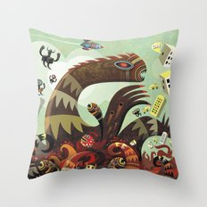 Tsuna me  Throw Pillow