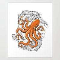 Hexapus Ink 3 Art Print