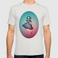 Night Dancer Mens Fitted Tee Silver SMALL
