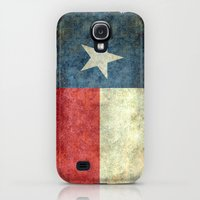 "Galaxy S4 Cases featuring The ""Lone Star Flag"" of Texas - Retro version by BruceStanfieldArtist North America"