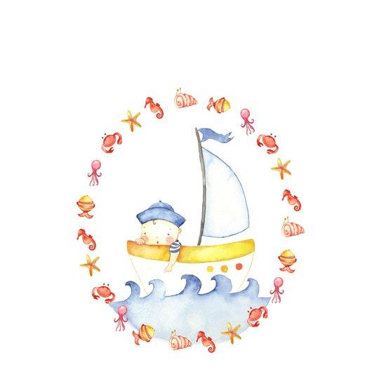 Baby sailor Canvas Print