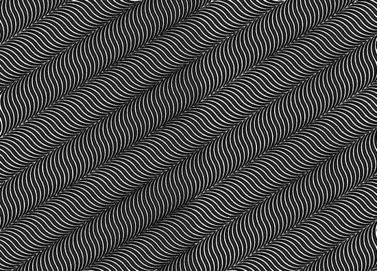 Illusional Waves Art Print