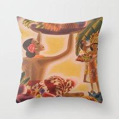 Luau! Vintage Hawaii Throw Pillow