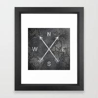 Compass (Map) Framed Art Print