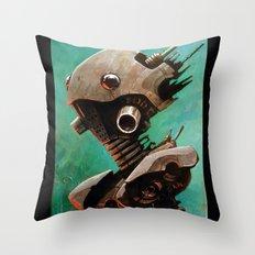 Twin #2 Robot Throw Pillow