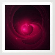 Here Is My Heart Fractal Art Print