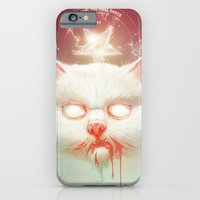 iPhone & iPod Case featuring The Hell Kitty by Dr. Lukas Brezak