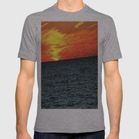 fire in the sky Mens Fitted Tee Athletic Grey SMALL