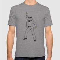 Saturday Night Trooper _… Mens Fitted Tee Athletic Grey SMALL