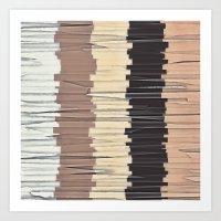 Shreds of Colors 3 Art Print