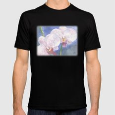 Orchid Gaze Black Mens Fitted Tee SMALL