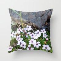 Volcanic flowers Throw Pillow