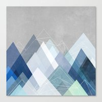 Graphic 107 X Blue Canvas Print