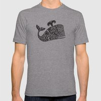 ...YE DAMNED WHALE. Mens Fitted Tee Athletic Grey SMALL