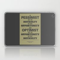 Pessimist / Optimist Laptop & iPad Skin