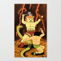 Slave To Fighting Canvas Print