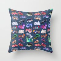 Nudibranch Throw Pillow