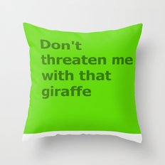 Green Butcher's Quote  Throw Pillow