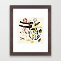 Le Chat Framed Art Print