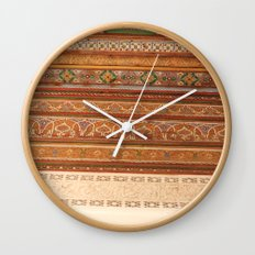 Moroccan Palace Patterns Wall Clock