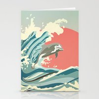 dolphin happiness Stationery Cards
