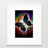 Cosmos Butterfly ( Stars star butterflies space nebula ) Framed Art Print